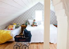 the boo and the boy: another shared attic room--always wanted one
