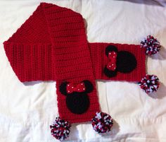 Minnie Mouse Scarf Child Size 5 inches by 48 by Shannanagans13,