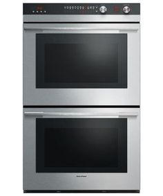 Fisher & Paykel 30 Inch Double Electric Wall Oven with 9 cooking modes, Self Clean, Catalytic Smoke Eliminator (Assembled - Stainless Steel - Electric), Silver
