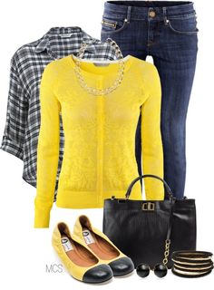 Cute outfit, I don't usually wear bright colors, but I like the yellow.