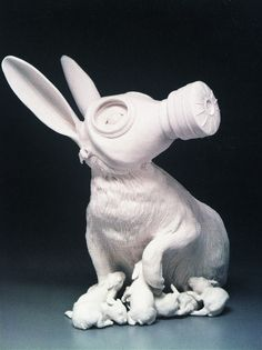"""""""First and Last Breath"""" (2010), by Kate MacDowell. Porcelain, acrylic gel."""