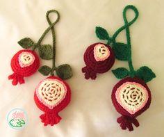 Crochet Pomegranate - Toma Creations 6