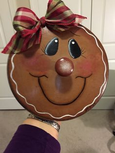 Gingerbread pot lid re-purposed
