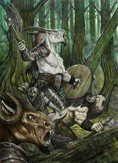 Beastmen by Wiggers123 | Digital Art / Drawings & Paintings / Fantasy | Concept Fae Creatures Warriors
