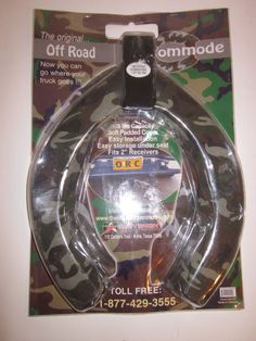 Off Road Commode Trailer Hitch Toilet Seat 500 Lb Capacity NEW Camo