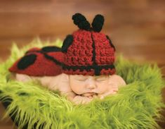 Lady Bug Fly To Me – And Add A Stocking Cap Too! · Crochet | CraftGossip.com