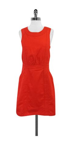 Marc by Marc Jacobs Red Textured Cotton Dress