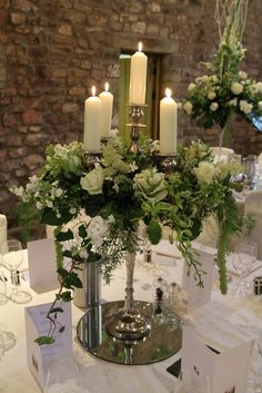 The gloriously full and fabulous candelabras included Phlox, Roses, Brassica, Hydrangeas, Alchemilla Mollis, Dendrobium Orchids, Stocks and fragrant Dille.