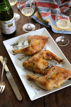 spiced chicken leg quarters with brown sugar & rosemary www.climbinggrier...