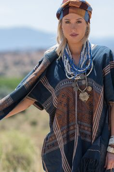 ibu Movement | Myanmar Tunic and Shawl, Indian Coin Necklace and Laotian Silk Headscarf