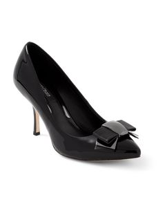 White House | Black Market  #whbm Patent Leather with Bow