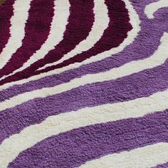 Designer Polyester Carpet-SEN-HBF-P-Wave-Purple