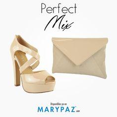 ¿ Aún no tienes el conjunto perfecto para estos días ?  Consigue el ansiado Perfect Mix de la mano de MARYPAZ <3 <3 <3   ¡ Hay muchas combinaciones de zapato + bolso !  #areyouready? #areyoucrazy?  #perfectmix  #SS15 #trendy #moda #tendencia #itssummer #summerON #feelgood #feelMARYPAZ  BOLSO ► http://www.marypaz.com/tienda-online/sobre.html?sku=72067-00   STILETTO ► http://www.marypaz.com/tienda-online/sandalia-de-tacon-cruzada-47023.html?sku=71838-42