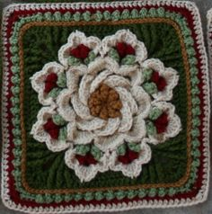 """Ravelry: kindredcottage's Christmas Delight-a pretty change in the colorway of the """"tropical delight"""" pattern"""