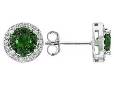 Bella Luce (R) 2.00ctw Emerald And White Diamond Simulants Rhodium Ove