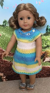 """Ravelry: Rainbow Cone Dress for 18"""" Dolls pattern by Janice Helge"""