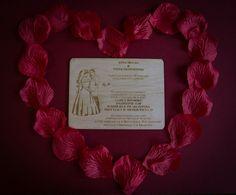 Zaproszenie Ślubne (PERSONALIZOWANE) 14 x 10,5 cm, grubość 3 mm 5,5 zł - 1 szt. Info@dex-druk.pl