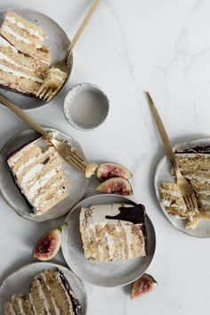 Fig and Almond Layer Cake