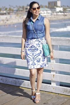 Beach Blue Hues #Outfit now on the blog :)