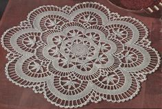 1950 Cluny Centerpiece Doily Crochet Pattern 133 by knittedcouture on Etsy https://www.etsy.com/listing/154981389/1950-cluny-centerpiece-doily-crochet