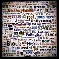 Volleyball  this would be cool framed in my room on the walll!