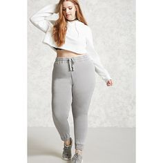 9c3e26743ee Forever21 Plus Size Faded Sweatpants ( 20) ❤ liked on Polyvore featuring  plus size women s fashion