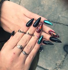 #mywork #blacknails