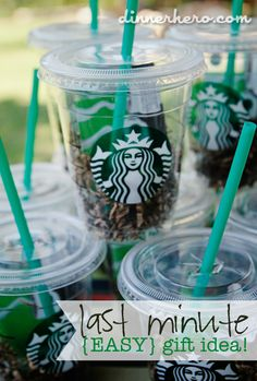 DIY Starbucks Gift Card in a Cup dinnerhero.com