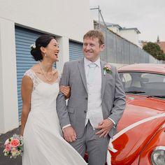 Fleur + Cole (+ VW love) ❤️ #jelphotography #aucklandphotographer alternative wedding photographer