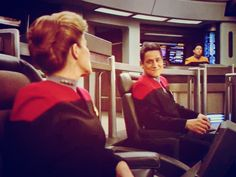 Janeway and Chakotay. Aw...that look. *squeal* #otp