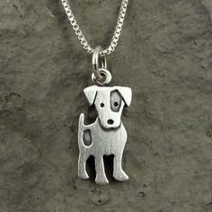 Jack Russell terrier necklace, Stick Man