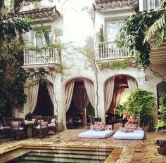 #homesweethome #helloilivehere #boho #chic #bohemian #pool #home #msboheme www.msboheme.com