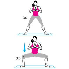 Temple Pose to Plie Squat & other yoga poses Yoga Sequences, Yoga Poses, Fitness Tips, Fitness Motivation, Health Fitness, Fitness Fun, Fitness Exercises, Women's Health, Workout Fitness