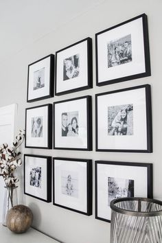 Master Bedroom Black & White Gallery Wall