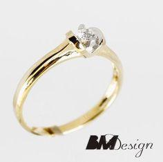 Pierścionek zaręczynowy z diamentem Rzeszów  Pierścionek zaręczynowy Rzeszów BM Design BM Rzeszów