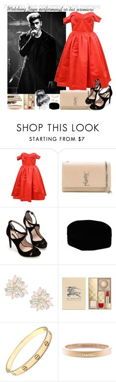 """Watching Zayn performing #G"" by ghizlanewilde ❤ liked on Polyvore featuring Yves Saint Laurent, Zara, Cara, Burberry, Cartier and Chanel"