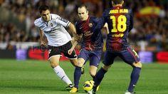 Andrés Iniesta, FC Barcelona.   Valencia 1-1 FC Barcelona. 2013-02-03.