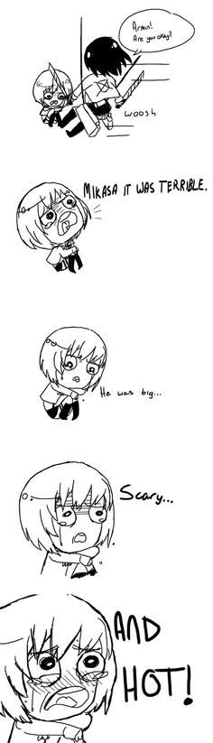 Attack on Titan ~~ Armin after seeing Eren as a Titan. :)