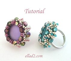 Beading Tutorial for Pinch Ring with pinch beads is very detailed with clear beading instructions, step by step and with photos of each step.