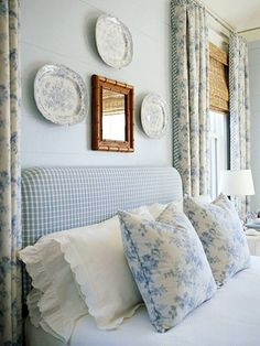 9 Secrets to Soothing Bedrooms-7. Bring in an upholstered chair and small side table for a comfortable resting spot.