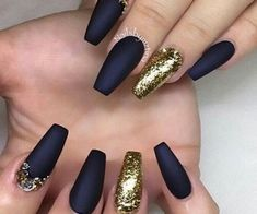 Coffin design acrylic nails