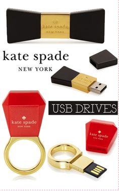 Kate Spade USB chic via the college prepster