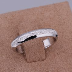 Woman platnium wedding bands | Fashion-Platinum-Plated-Women-Ring-High-Quality-Wedding-Band-No-Fade ...