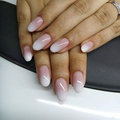 Nails made with E.Mi Soft Milk gel - to order clik on link New French Manicure, French Acrylic Nails, French Manicure Designs, French Nail Art, Nail Designs, Manicure Gel, Short Gel Nails, Bride Nails, Wedding Nails