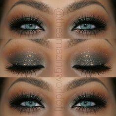 make up guide Elegant Glitter Smokey Eye Makeup That Makes Her Blue Eyes POP ~ Stunning! ♡♥♡♥♡♥ make up glitter;make up brushes guide;make up samples; make up brushes guide Blue Eyes Make Up, Blue Eyes Pop, Blue Green Eyes, Aqua Eyes, Eyeshadow Looks, Eyeshadow Makeup, Gel Eyeliner, Eyeshadow For Blue Eyes, Makeup Looks For Green Eyes