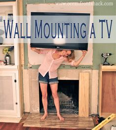 Great tips for mounting a tv above the fireplace