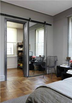 A Sliding Barn Door Mirror: Remodelista