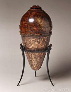 Koa, Snakewood, Black Palm on Ebony Stand | David J. Marks