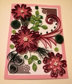 Paper quilling art handmade quilling card for any occasion spring quilling card mother day card quilled card handmade card birthday card paper card all occasion quilled card m4hsunfo