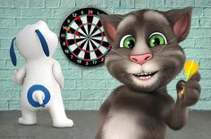 talking hank and i are playing darts..